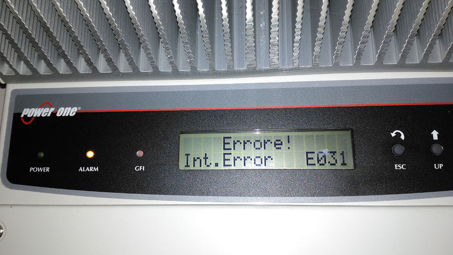 Errore E031